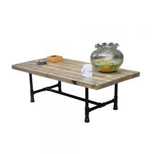 Bàn trà phòng khách gỗ thông chân ống nước TT68006