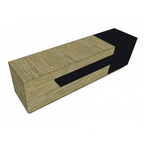 BLT68004 - Quầy thu ngân shop thời trang bằng gỗ thông lau hiện đại - 300x70x100 (cm)