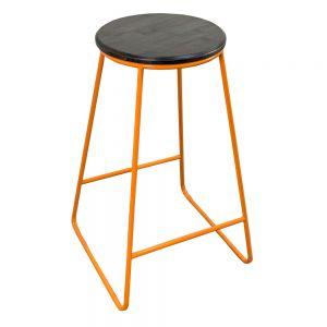 HOGCF68020 - Ghế Bar chân sắt nhiều màu mặt gỗ tròn