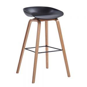 HOGCF68016 - Ghế ngồi cao quán bar chân gỗ sồi