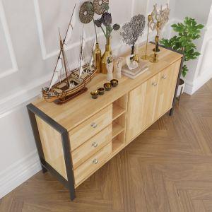 KTB68026 - Tủ gỗ trang trí phòng khách HEKUR phong cách hiện đại - 148x40x75 (cm)