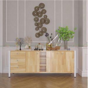 KTB68027 - Tủ gỗ trưng bày phòng khách HEKUR - 188x40x75 (cm)