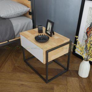 TDG68003 - Tủ đầu giường 1 ngăn kéo bằng gỗ Ferro - 50x40x50 (cm)