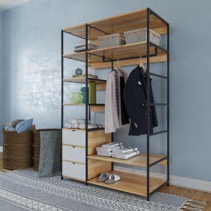 TQA68007 - Tủ quần áo PINLEG - 120x60x200(cm)