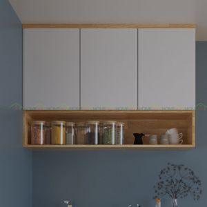 TBT68001 - Tủ bếp treo tường 3 cánh bằng gỗ - 120x35x80 (cm)