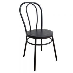 GBC68027  - Ghế cafe lưng tựa bằng sắt sơn tĩnh điện