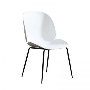 GBC68018  - Ghế bàn cao Beetle lưng nhựa chân sắt cao cấp