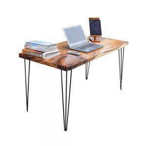 PD68018 - Bàn làm việc ProDesk gỗ me tây chân HairPin - 140x70x75 (cm)