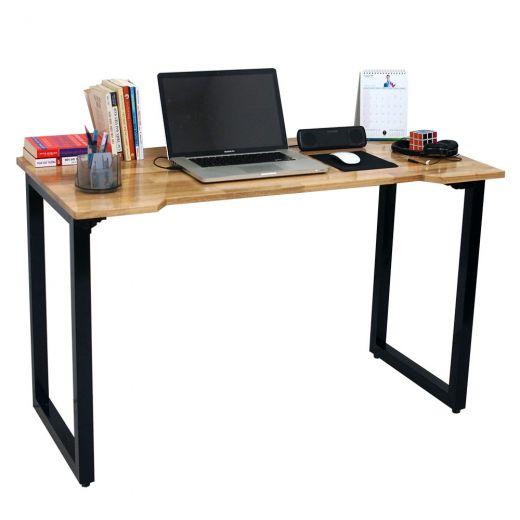 SPD68003 - Bàn làm việc đơn giản SimpleDesk chân bàn gấp gọn màu gỗ - 120x60x75 (cm)