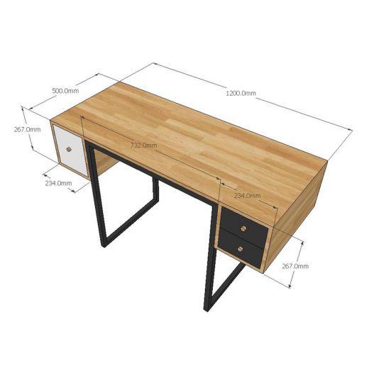 BTD68015 - Bàn trang điểm gỗ đơn giản có ngăn kéo 2 bên - 120x50x75 (cm)