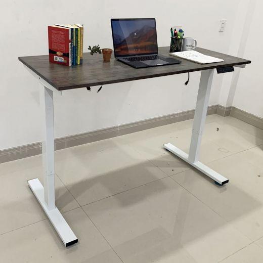 HO2AR2E1_A1 - Bàn FlexiDesk Pro 60x140cm 1 thanh giằng gỗ cao su chỉnh điện
