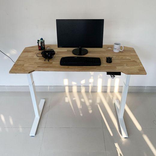 HO2A2_G1 - Bàn FlexiGaming 70x140cm gỗ cao su 2 khớp chỉnh điện