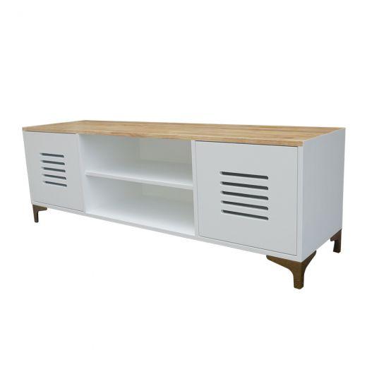 KTV68037 - Kệ để TV phòng khách gỗ màu trắng 150x40x50 cm