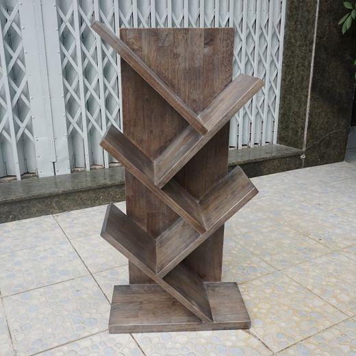 KS68042 - Kệ sách mini hình nhánh cây màu nâu lau - 40x20x80 (cm)