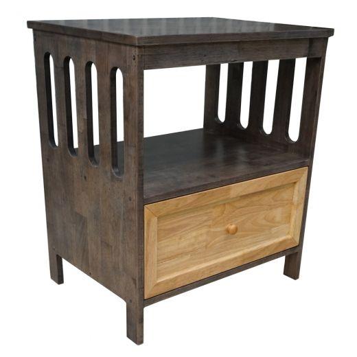 TDG68019 - Tủ đầu giường 1 ngăn kéo màu nâu lau 65x47x72cm