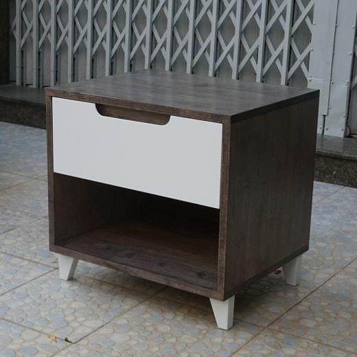 TDG68016 - Tủ đầu giường 1 ngăn kéo gỗ màu nâu lau (50x40x48cm)