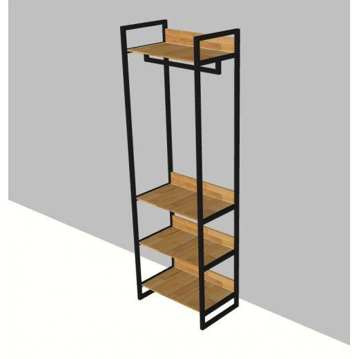 KQA68020 - Kệ treo quần áo chữ H đa năng khung sắt  -  60x40x200 (cm)