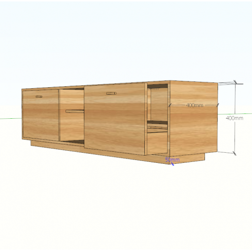 KTV68006 - Kệ để tivi phòng khách bằng gỗ 2 ngăn tủ kéo - 160x40x55 (cm)