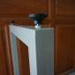 CHB68001 - Chân bàn sắt gấp gọn 73cm sơn tĩnh điện màu đen
