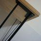 SPD68007 - Bàn làm việc SimpleDesk mặt khuyết màu gỗ chân màu đen cách điệu - 120x60x75 (cm)