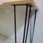 Bàn làm việc SimpleDesk mặt khuyết màu gỗ chân Hairpin  120x60x75 (cm) SPD68007