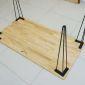 CHB68005 - Bộ chân sắt cách điệu cao 73cm sơn tĩnh điện đen