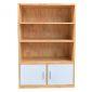 THS68004 - Tủ kệ hồ sơ văn phòng đơn giản có ngăn cửa tủ gỗ cao su - 80x40x120 (cm)