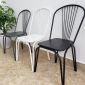Ghế cafe, ghế ngoài trời lưng tựa bằng sắt sơn tĩnh điện GBC68031