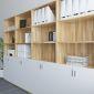 THS68010 - Tủ hồ sơ gỗ cao su cao 5 tầng có cửa khóa ( 80x40x220cm)