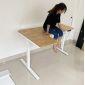 HO2A3S_A1 - Bàn FlexiCorner 110x160cm gỗ cao su 3 khớp chỉnh điện