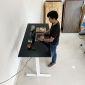 HO2A2_A1 - Bàn FlexiDesk Pro 60x140cm gỗ cao su 2 khớp chỉnh điện