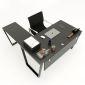 HBTC018 - Bàn chữ L 150x140 Trapeze Concept lắp ráp