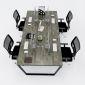 HBTC014 - Bàn cụm 4 240x120 Trapeze Concept lắp ráp