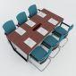 HBTC010 - Bàn họp 180x90 Trapeze Concept lắp ráp