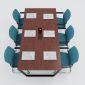 HBTC011 - Bàn họp 200x100 Trapeze Concept lắp ráp