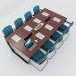 HBTC012 - Bàn họp 240x120 Trapeze Concept lắp ráp