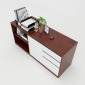 THS68017 - Tủ hồ sơ 160x45x63cm gỗ cao su 3 ngăn