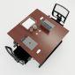 HBTH013 - Bàn cụm 2 120x120  Trapeze II Concept lắp ráp