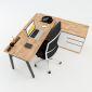 HBAT021 - Bàn giám đốc 160x140 Aton Concept chân sắt lắp ráp