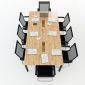 Bàn họp 240x120 hệ Oval Concept lắp ráp HBOV011