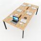 HBOV011 - Bàn họp 240x120 hệ Oval Concept lắp ráp