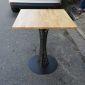 CFD68026- Bàn CoffeeDesk vuông 60cm gỗ cao su chân sắt hoa văn