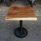 BMT012 - Bàn gỗ me tây dày 5cm chân sắt (60x60x75cm)