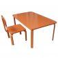 KD68008 - Bộ bàn ghế học tập cho trẻ em KidDesk V2 màu cam 100x60x45 (cm)