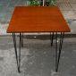 CFB014- Bàn CafeBamboo vuông 60cm chân Hairpin