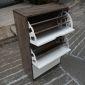 KG68015 - Tủ gỗ để giày 3 ngăn màu nâu lau 60x30x100cm