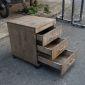 TCN68014 - Tủ hồ sơ cá nhân gỗ tự nhiên có 3 ngăn màu nâu lau - 50x40x50 (cm)