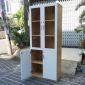 THS68012 - Tủ hồ sơ cao gỗ cao su cửa kính 5 tầng (80x40x220cm)