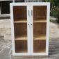 THS68015 - Tủ hồ sơ cao 120cm 3 tầng gỗ cao su cửa kính