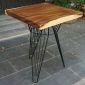 BMT016 - Bàn cafe gỗ me tây dày 5cm chân sắt (60x60x75cm)